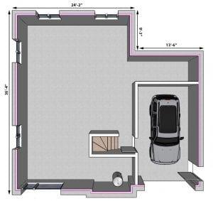 Plan de Maison | Sous-Sol Modèle Unifamiliale | Maison Contemporaine