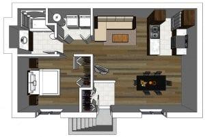 Plan de maison | Sous-Sol Modèle Duplex | Jumelé à Gatineau