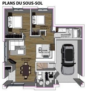 Plans de Maison   Sous-Sol   Modèle Duplex   Maison Contemporaine