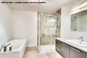 Modèle Condo deux et trois chambres | Salle de Bain | Constructions MCL