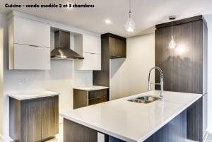 Cuisine | Condo Modèle deux et trois Chambres