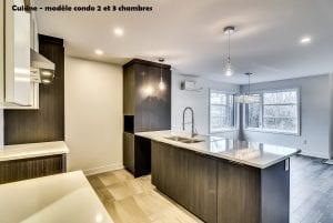 Cuisine | Modèle condo deux et trois chambre | Constructions MCL