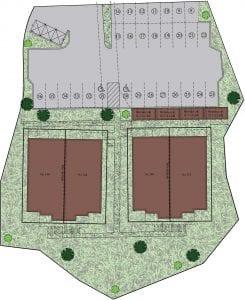 Plan du projet Les jardins Lorrain